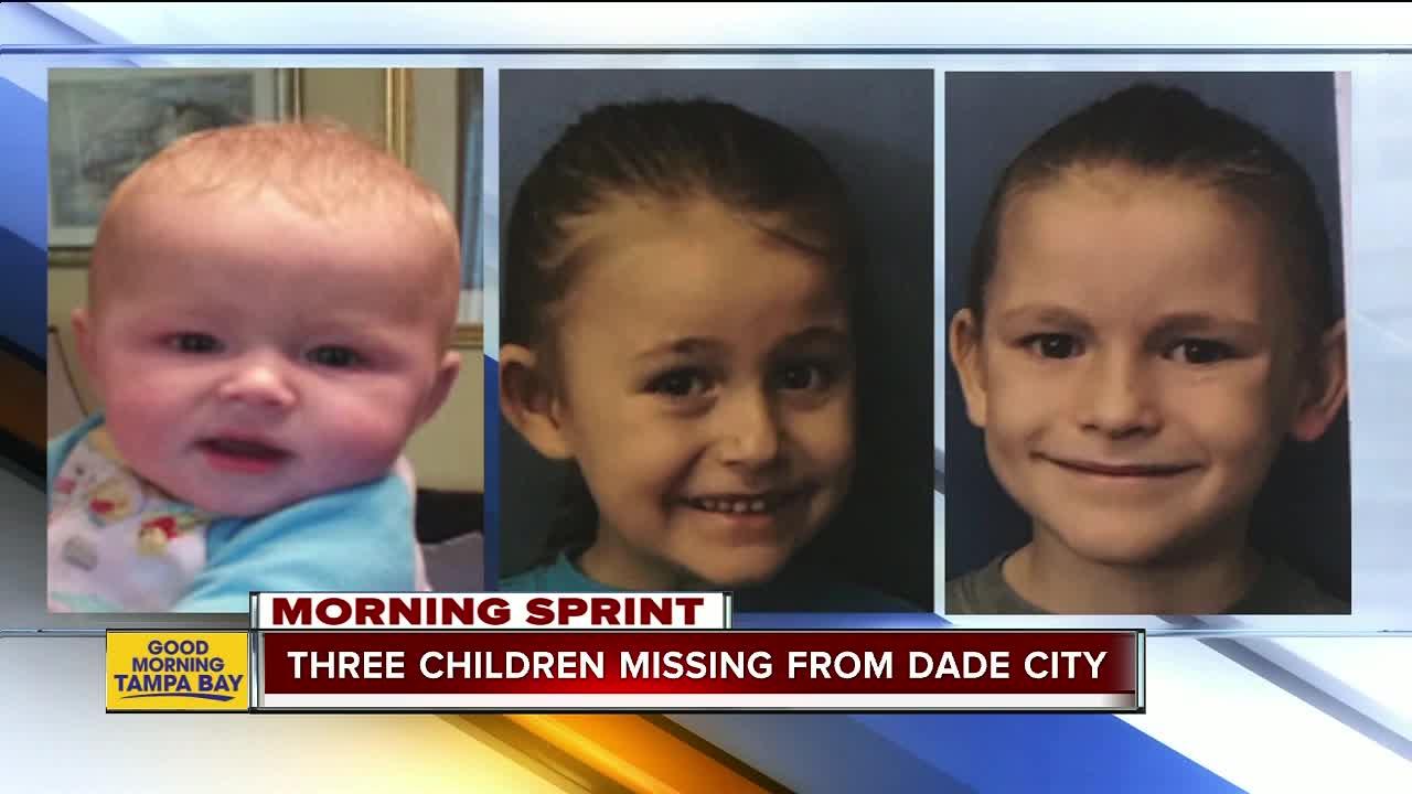 Florida Missing Child Alert canceled for three children who