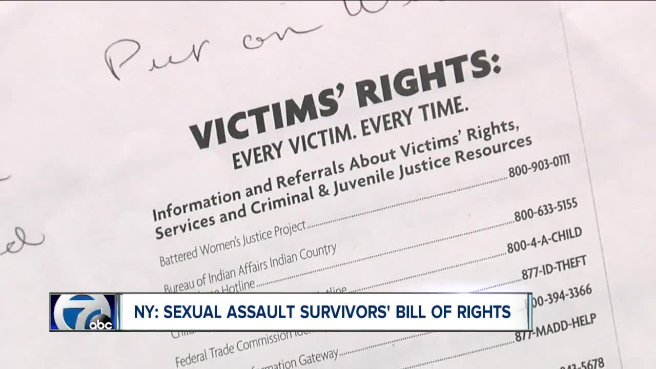 Not very sexual assault victims bill of rights the