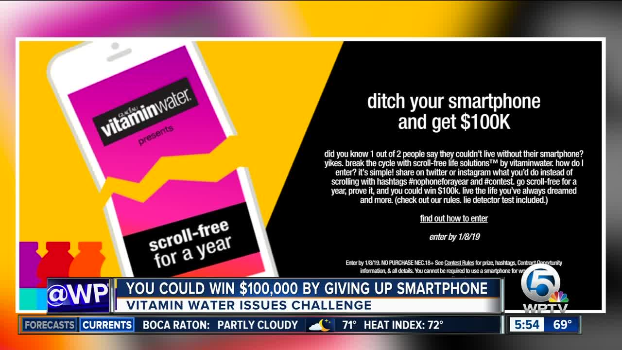 Could YOU give up your smartphone for a year for $100,000?