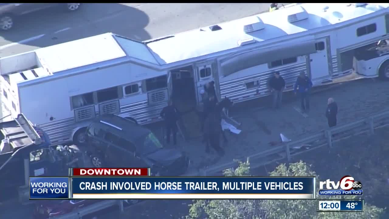 Crash Involving Horse Trailer Dump Truck Slows Wb I 70 Traffic To A