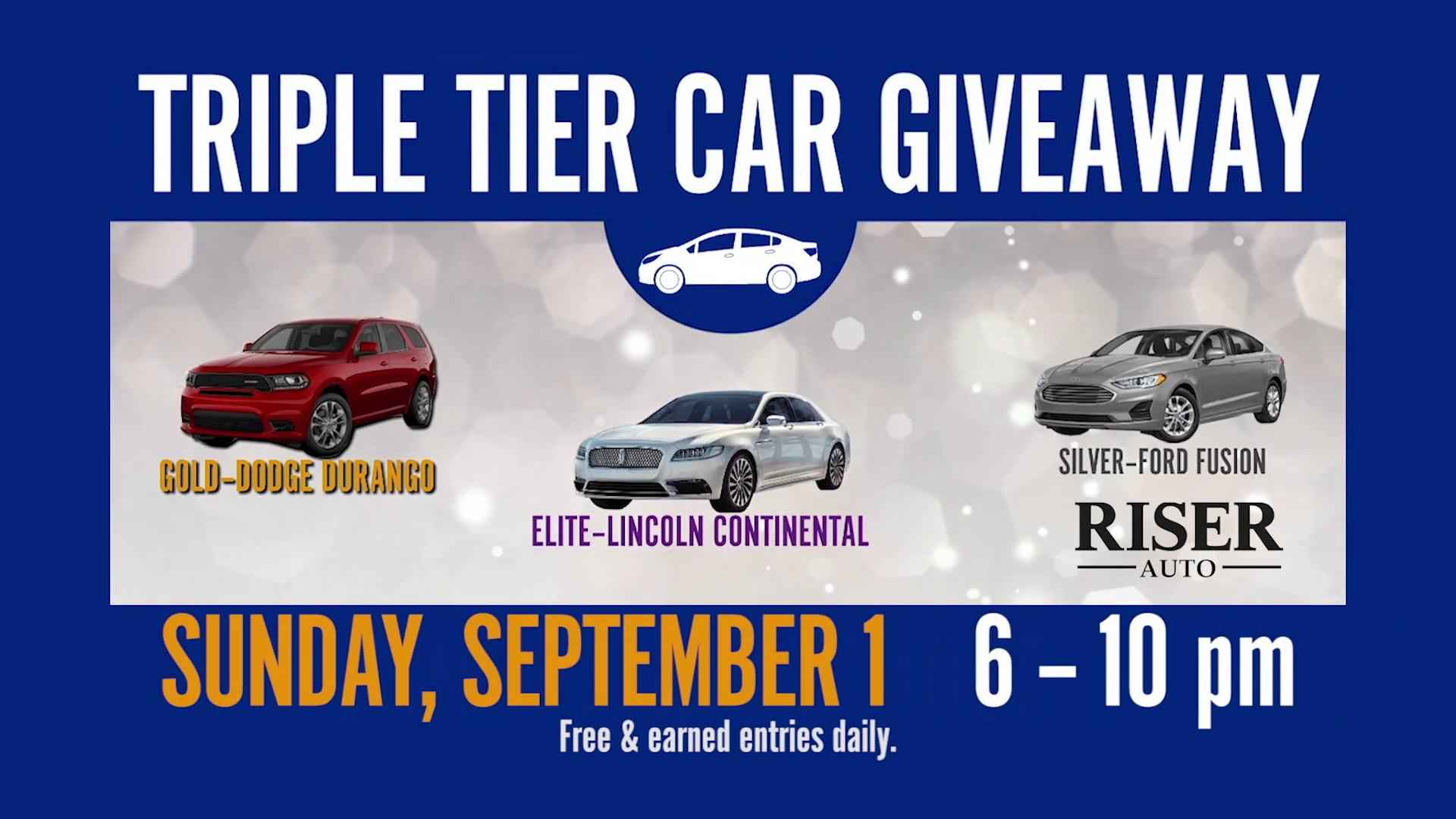 Triple Tier Car Giveaway | KATV