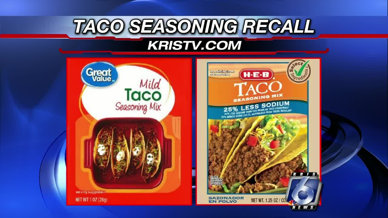 Taco seasoning sold at HEB, Walmart stores recalled
