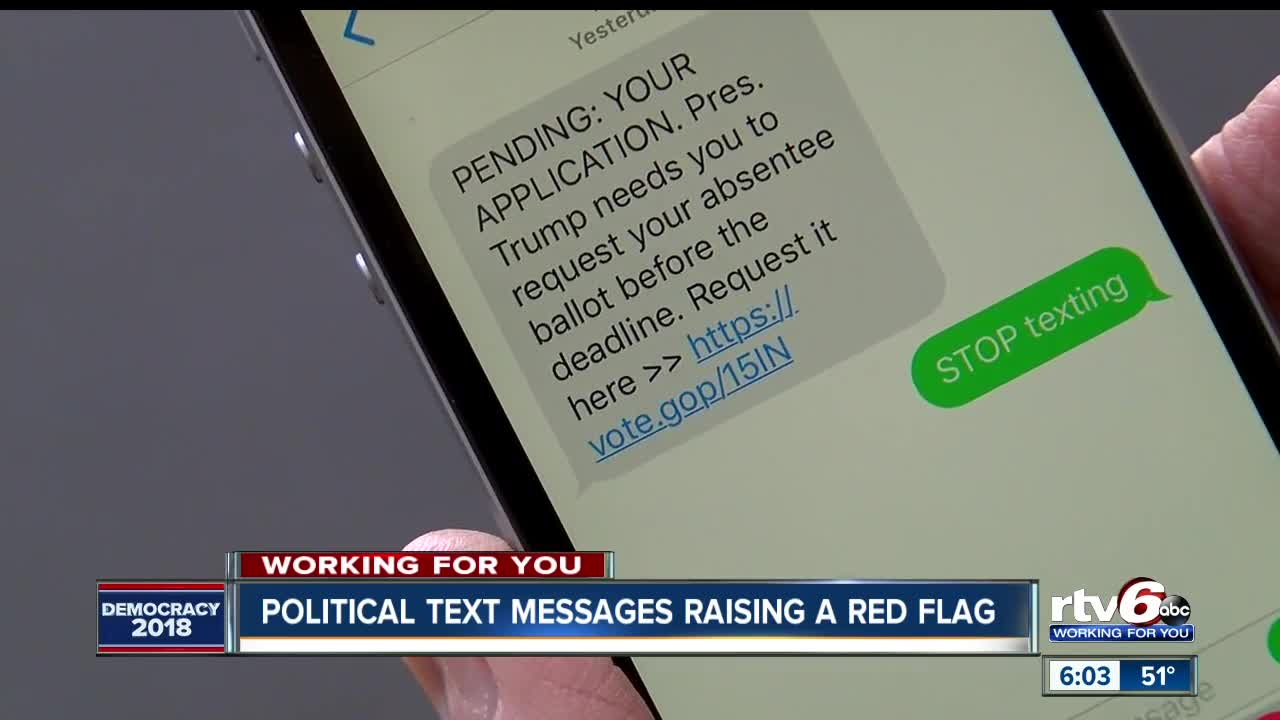 Women concerned political texts could be scam