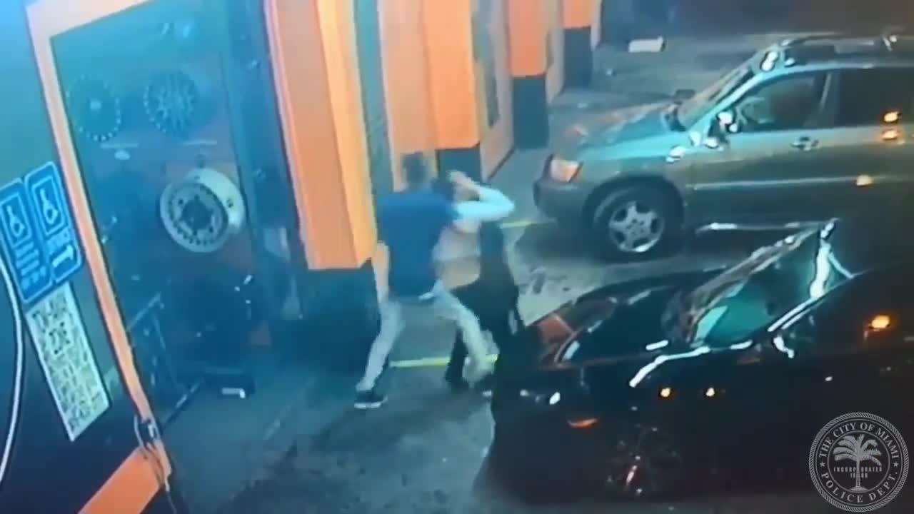 Search underway after video shows man abducting woman in Miami