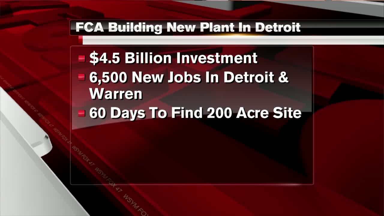$4.5b fiat chrysler plan to add 6,500 jobs in detroit area