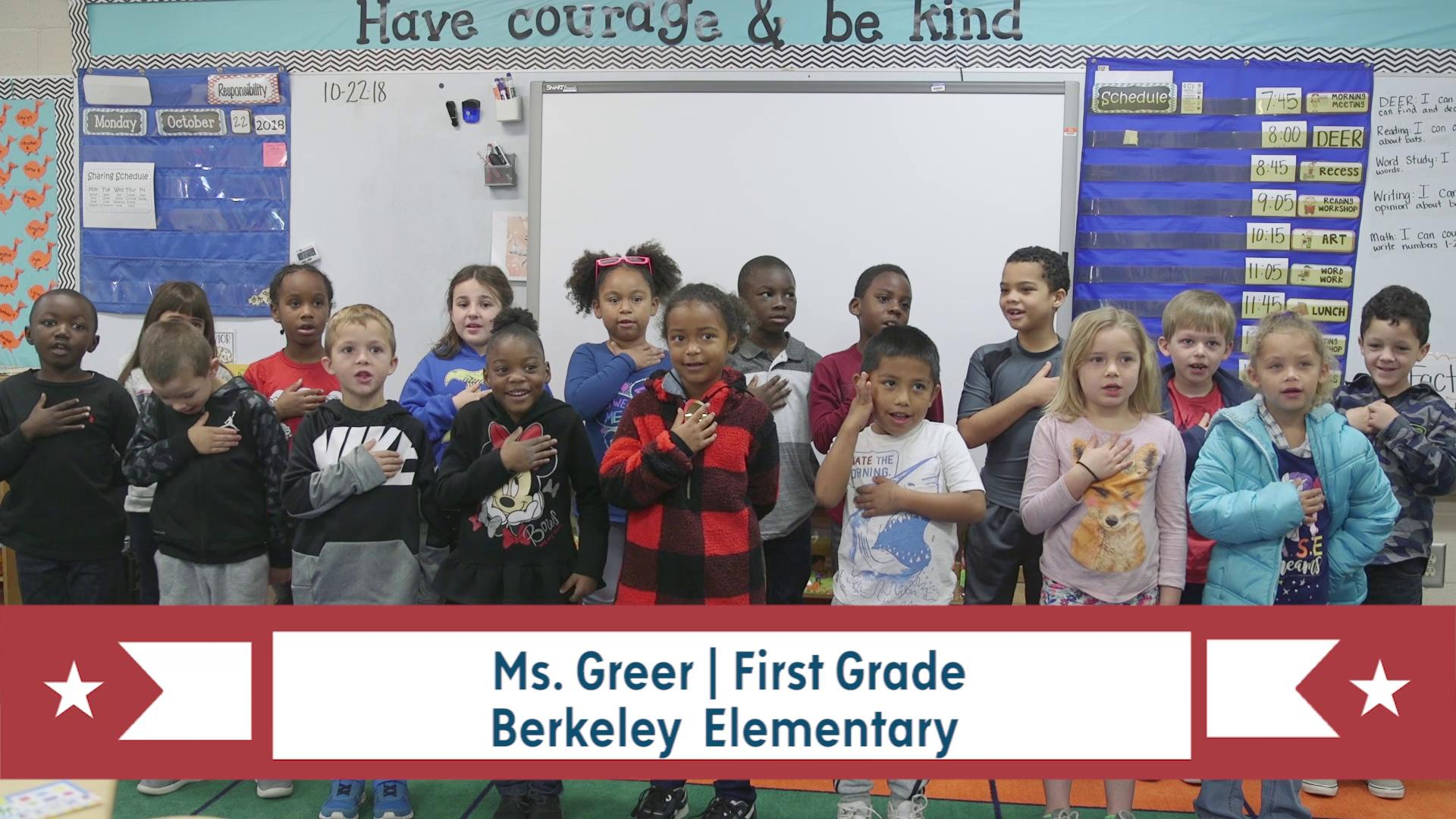 PLEDGE OF ALLEGIANCE for March 14, 2019