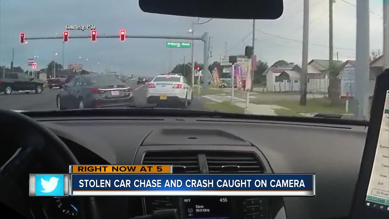 14-year-old car thief caught after roll over crash