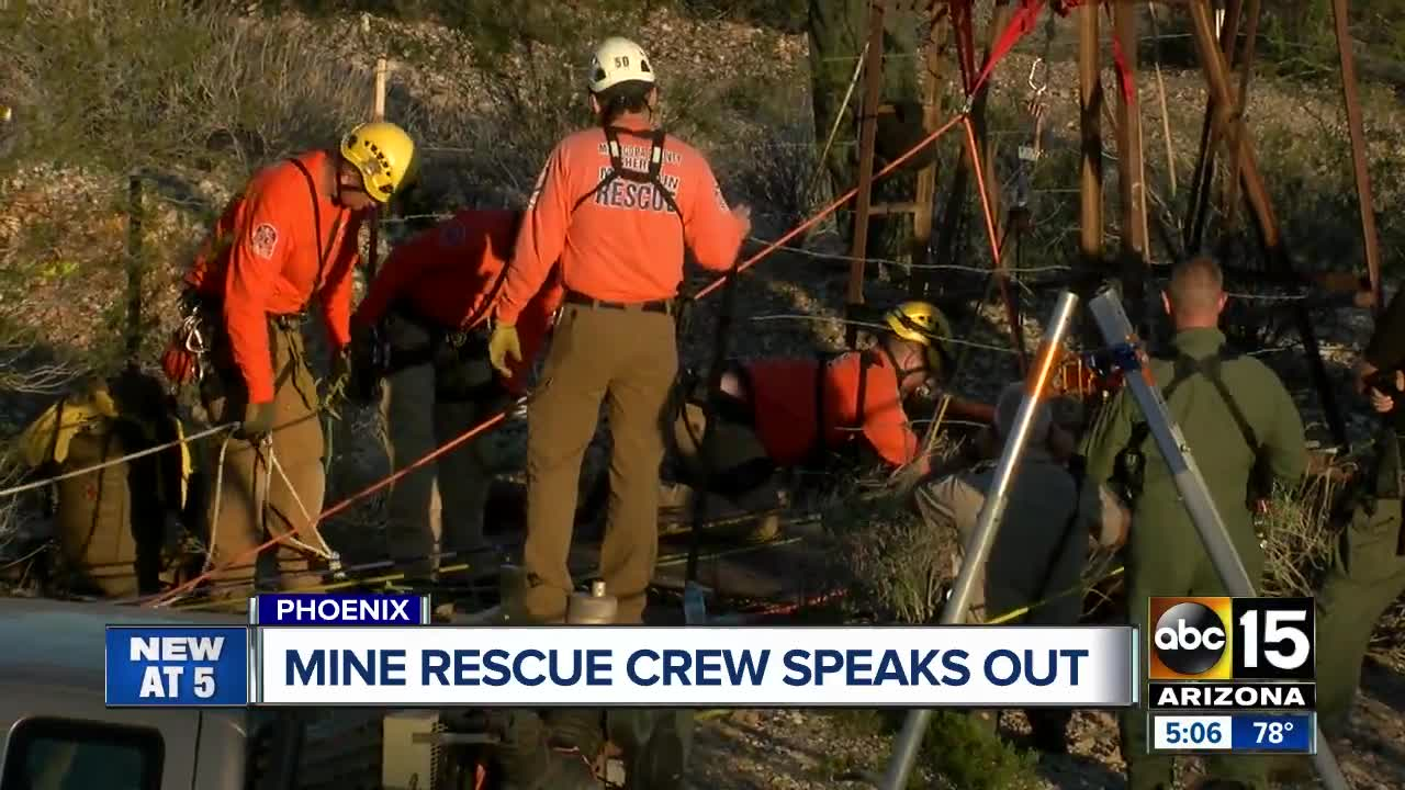 Arizona man talks about 2-day ordeal in abandoned mine shaft