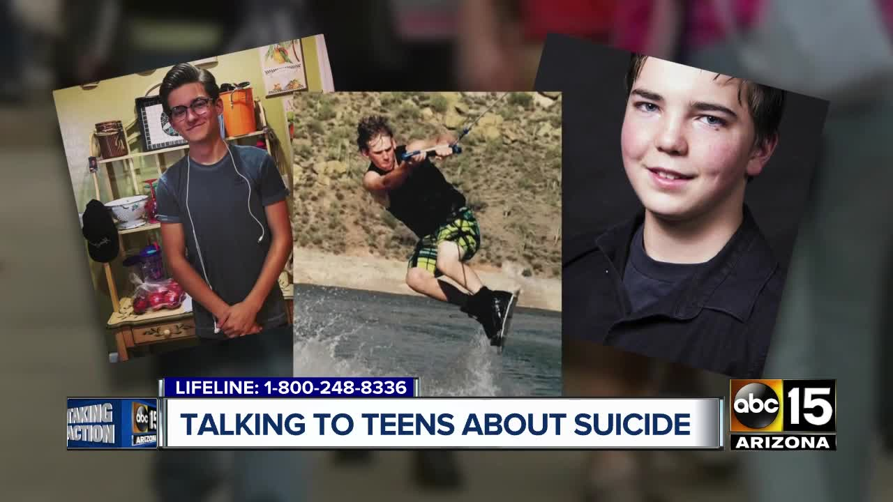 ABC15's Sonu Wasu spoke with grieving families who are teaming up with  state lawmakers to tackle teen suicide prevention.