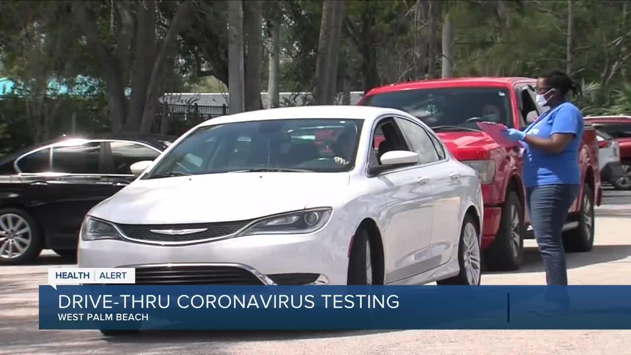 Free drive-through coronavirus tests start near West Palm ...