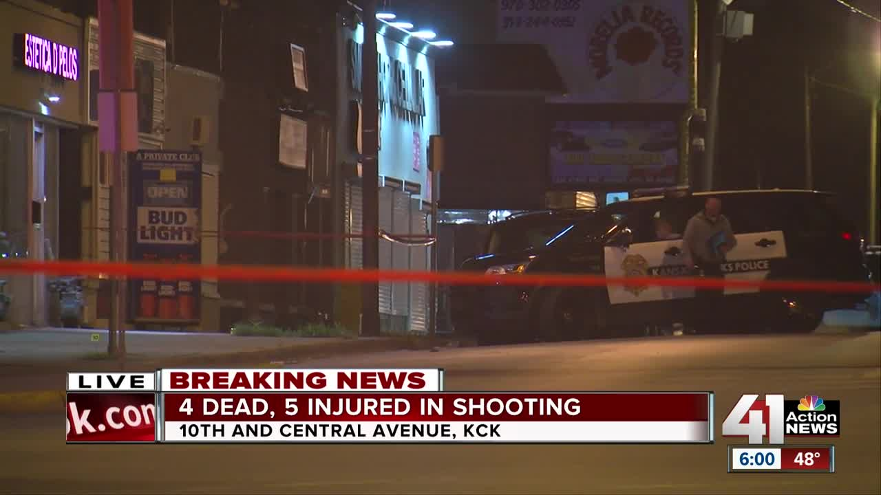 9 shot, 4 killed in overnight shooting at Kansas City bar