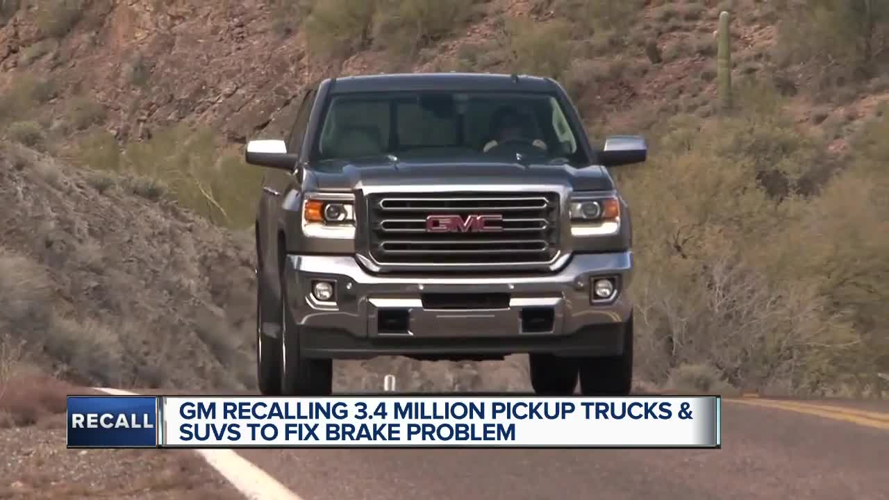 General Motors recalls almost 3.8 million pickup trucks over brake problem