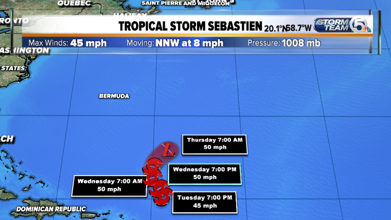Tropical Storm Sebastien forms in the Atlantic. Here's what the forecast shows