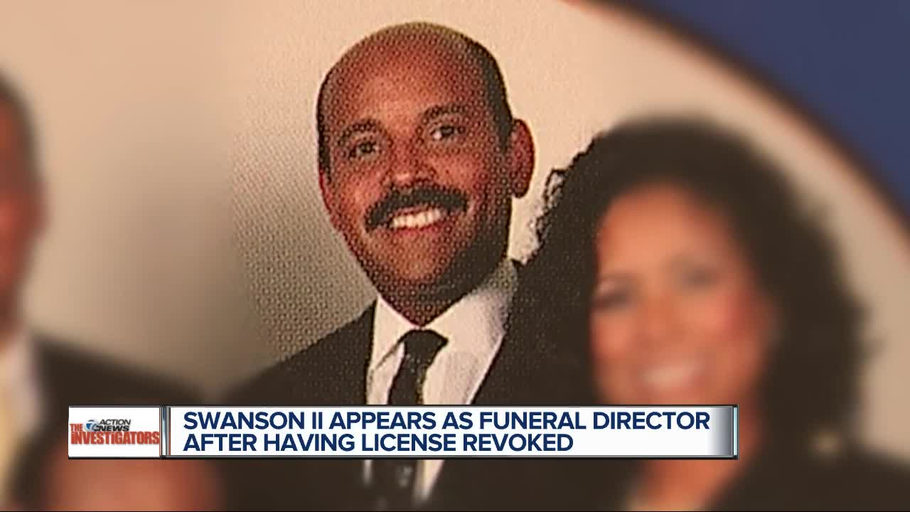 License revoked but Swanson II appears as funeral director