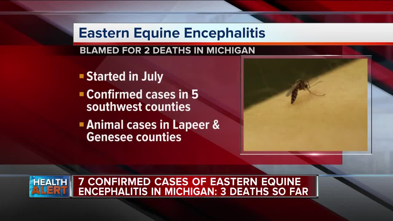 Animals with Eastern Equine Encephalitis found in Genesee, Lapeer counties