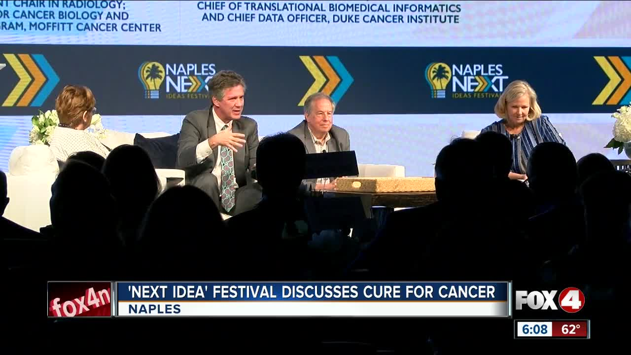 Curing cancer discussed at Naples NEXT Ideas Festival