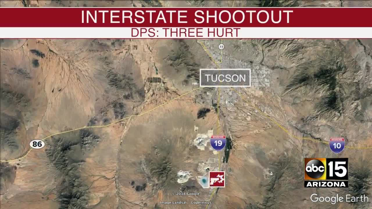 Map Of Arizona Freeway Shootings.One Dead Two Injured In Gun Battle On I 19 Near Green Valley