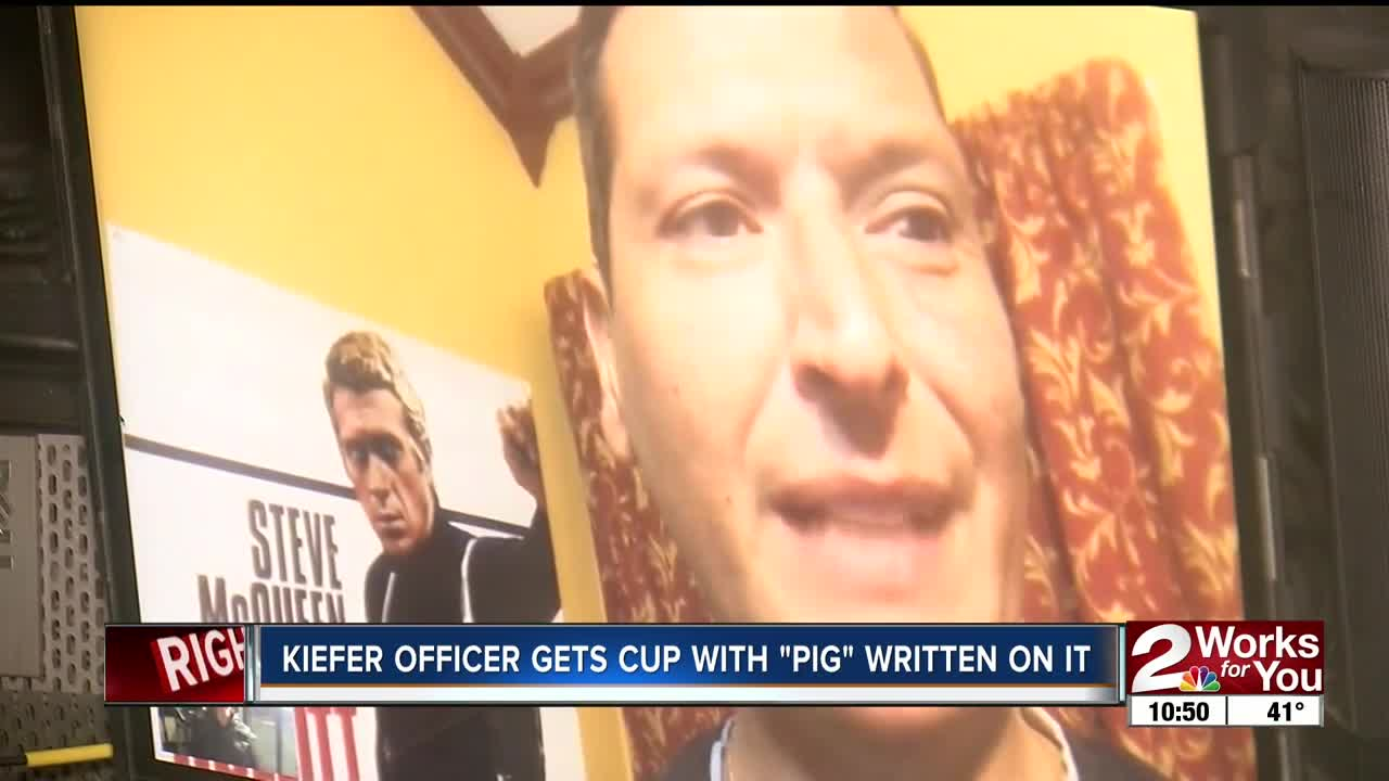 Police chief Johnny O'Mara called 'PIG' wants Starbucks to forgive barista