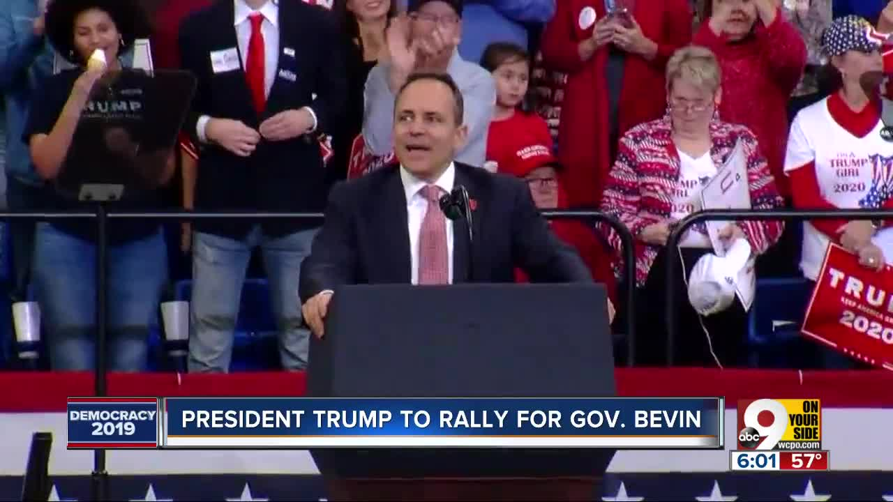Kentucky governor looks for last-minute boost from Trump