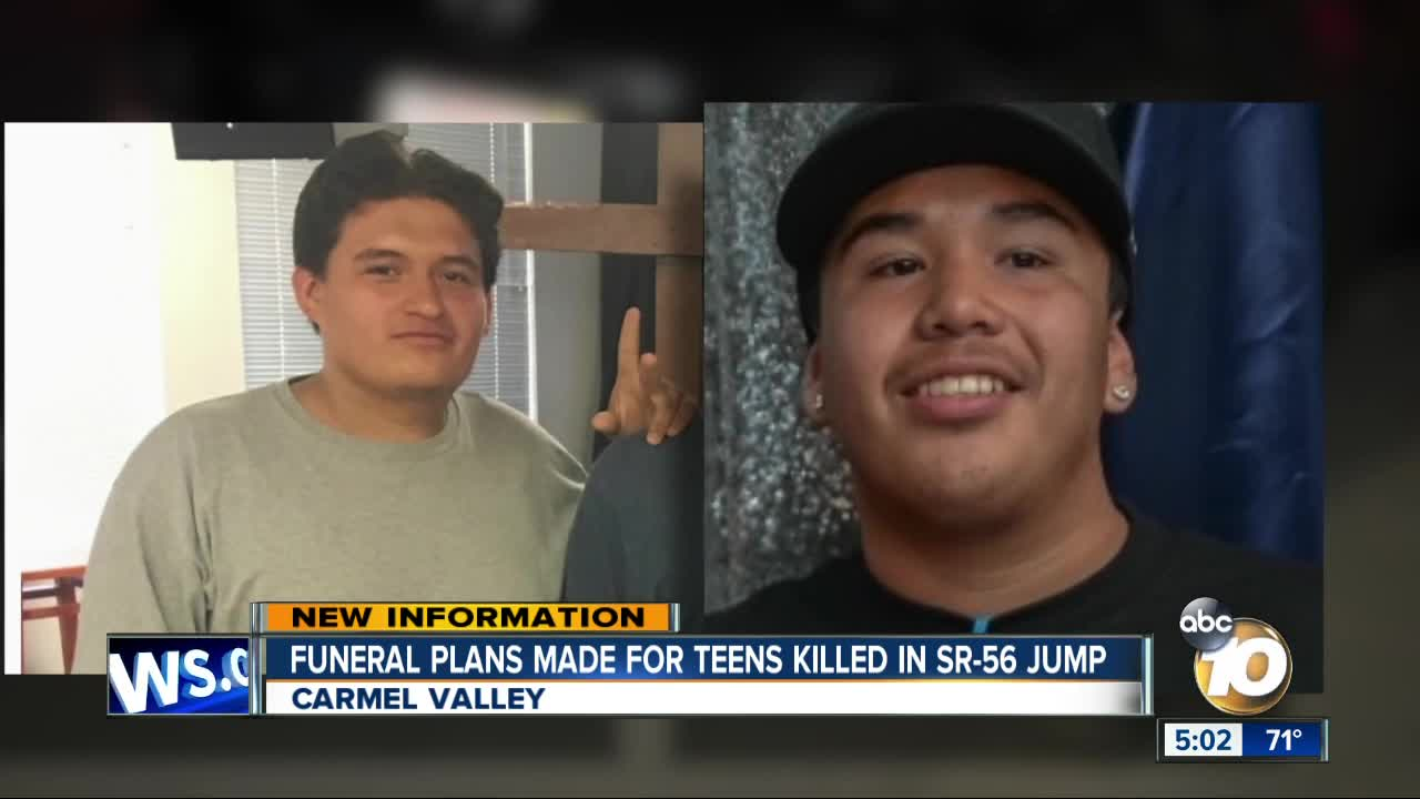 Funerals planned for Escondido teens who died in SR-56