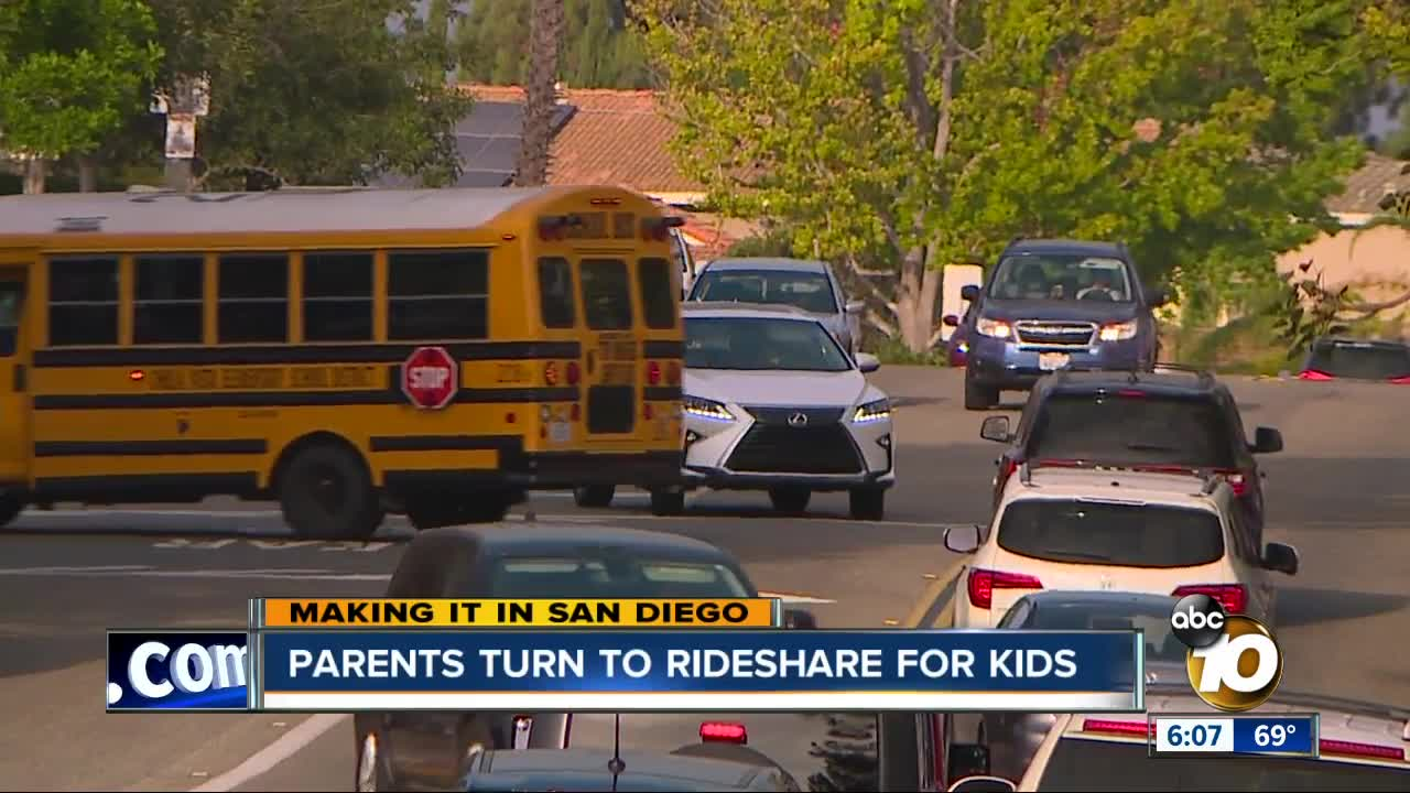 Rideshare San Diego >> Parents Turn To Rideshare Services To Drive Their Kids To School