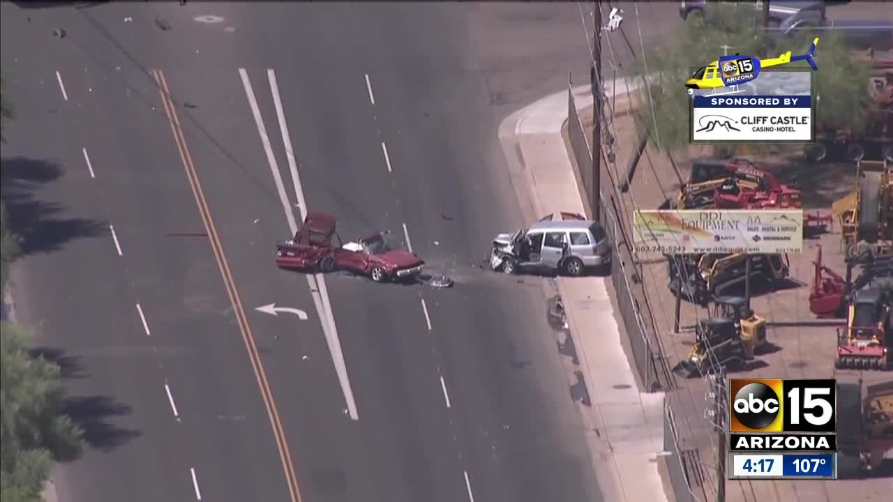 Firefighters: One killed in crash near 7th Avenue and Broadway