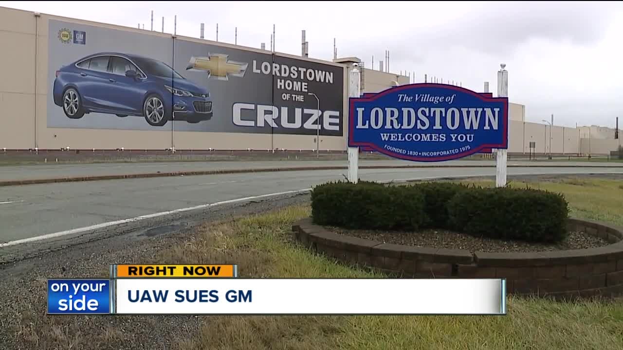 UAW suing GM over using temp workers instead of laid-off Lordstown