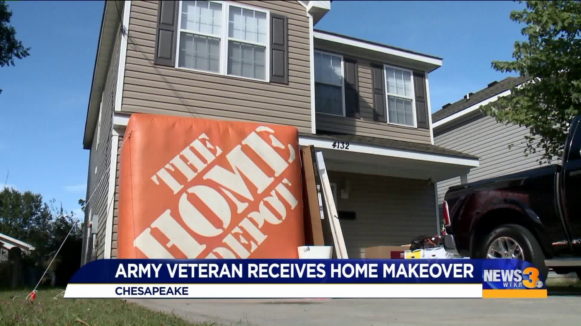 Chesapeake Army Vet Gets 10k Renovation As Home Depot Works To Serve Veterans