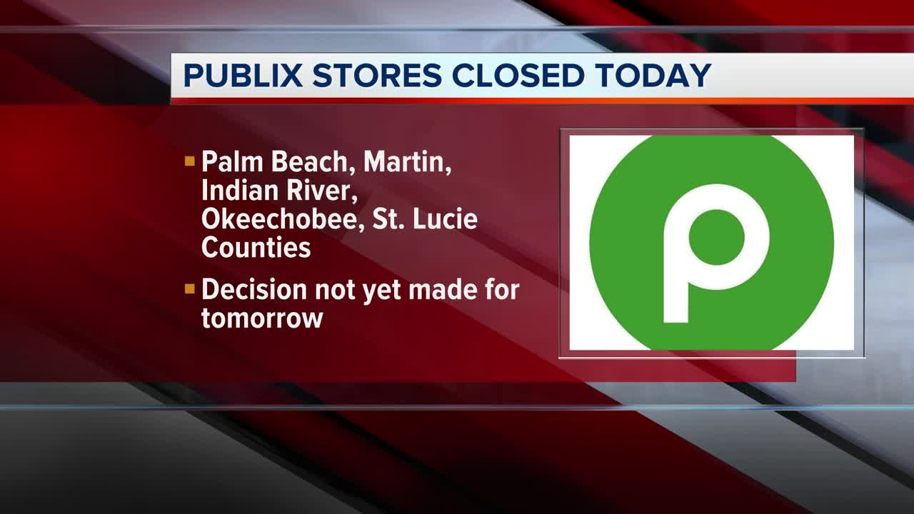 Publix stores in Palm Beach County, Treasure Coast closed
