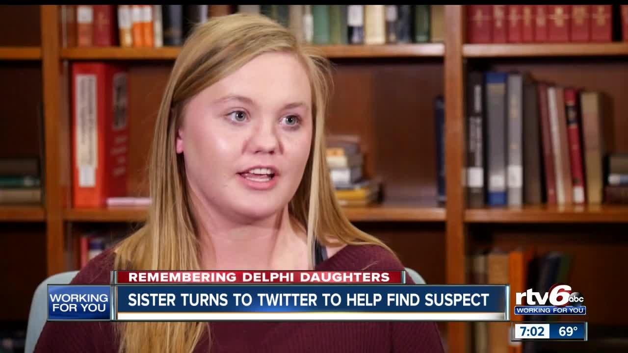Sister of Delphi murder victim, Kelsi German, turns to