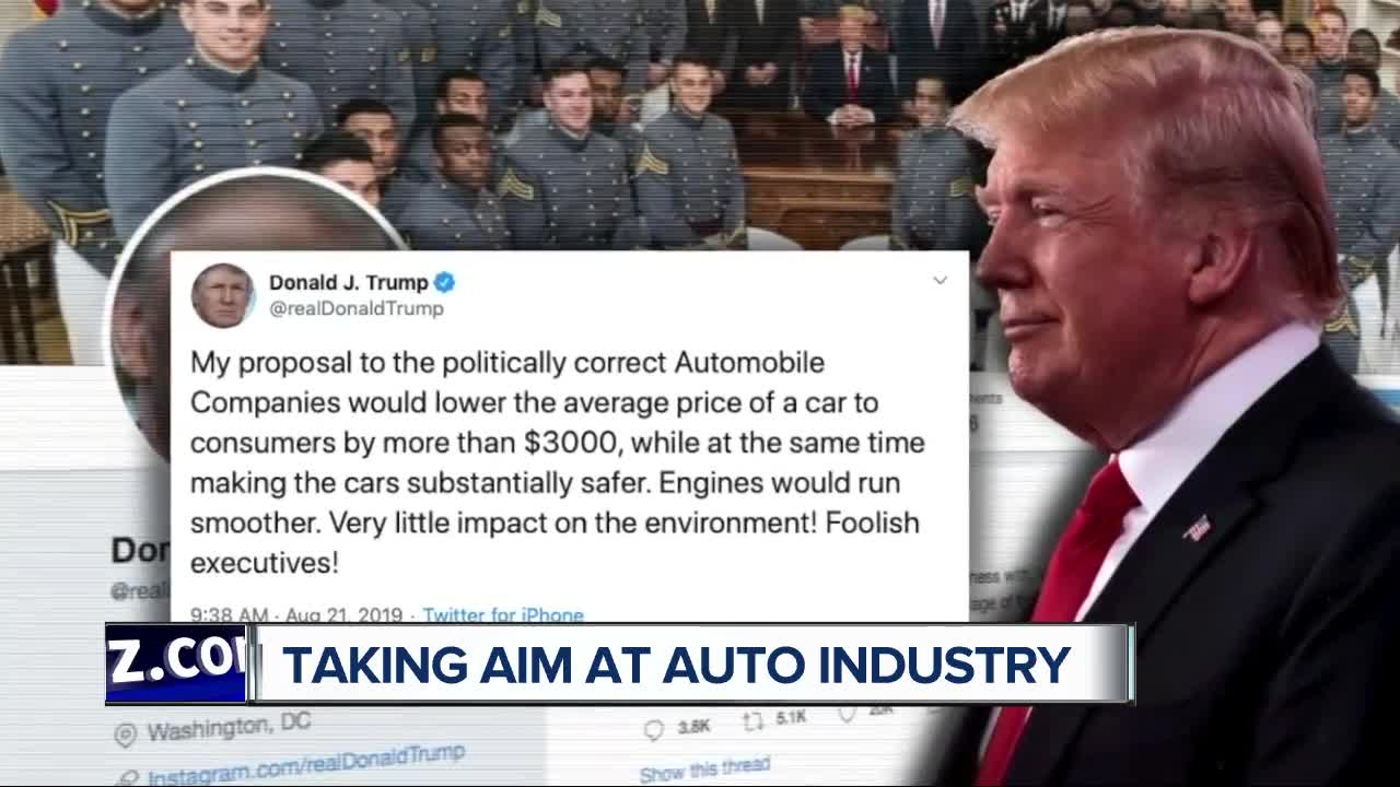 Donald Trump bashes 'foolish' auto execs for joining California emissions standards