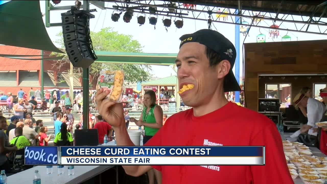 Joey Chestnut takes third place in Cheese Curd-Eating