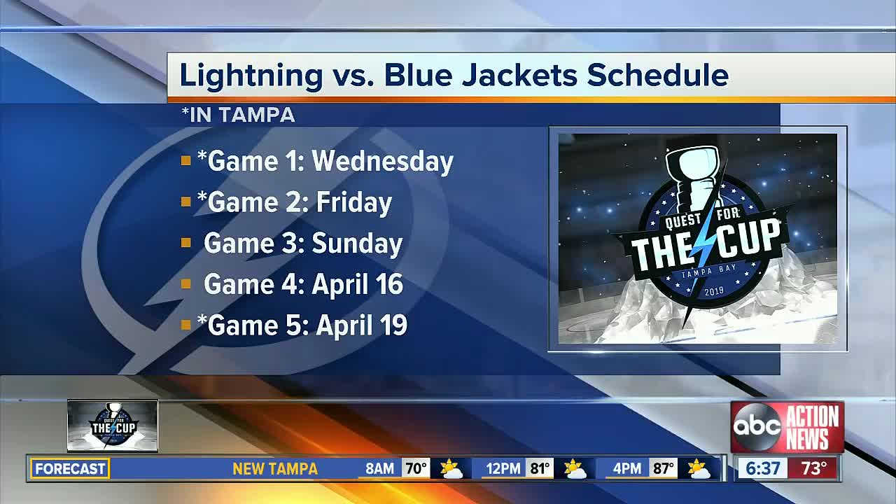 Lightning drop opening Playoff Game - ESPN 98.1 FM