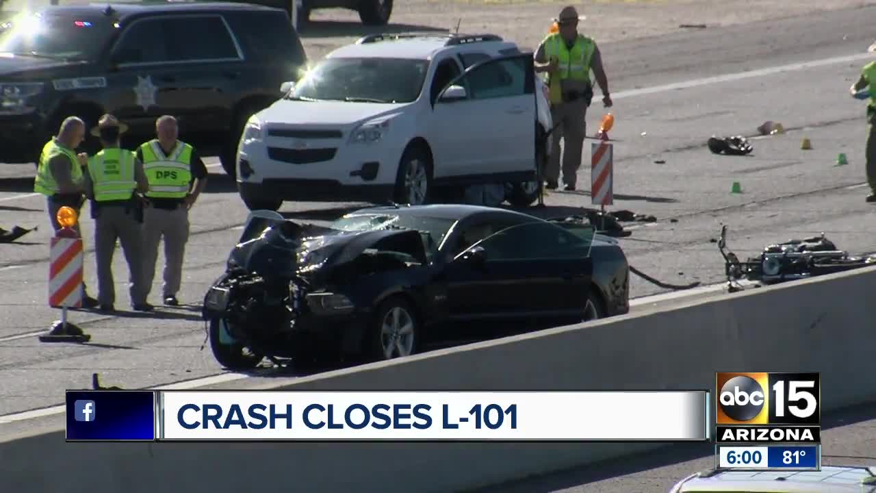DPS: Loop 101 EB at 64th Street reopened after deadly multi-vehicle