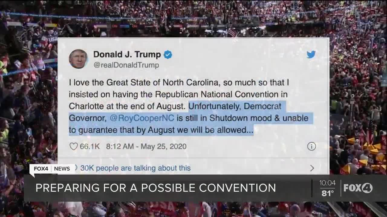 Republican National Convention: Trump threatens to move event from North Carolina