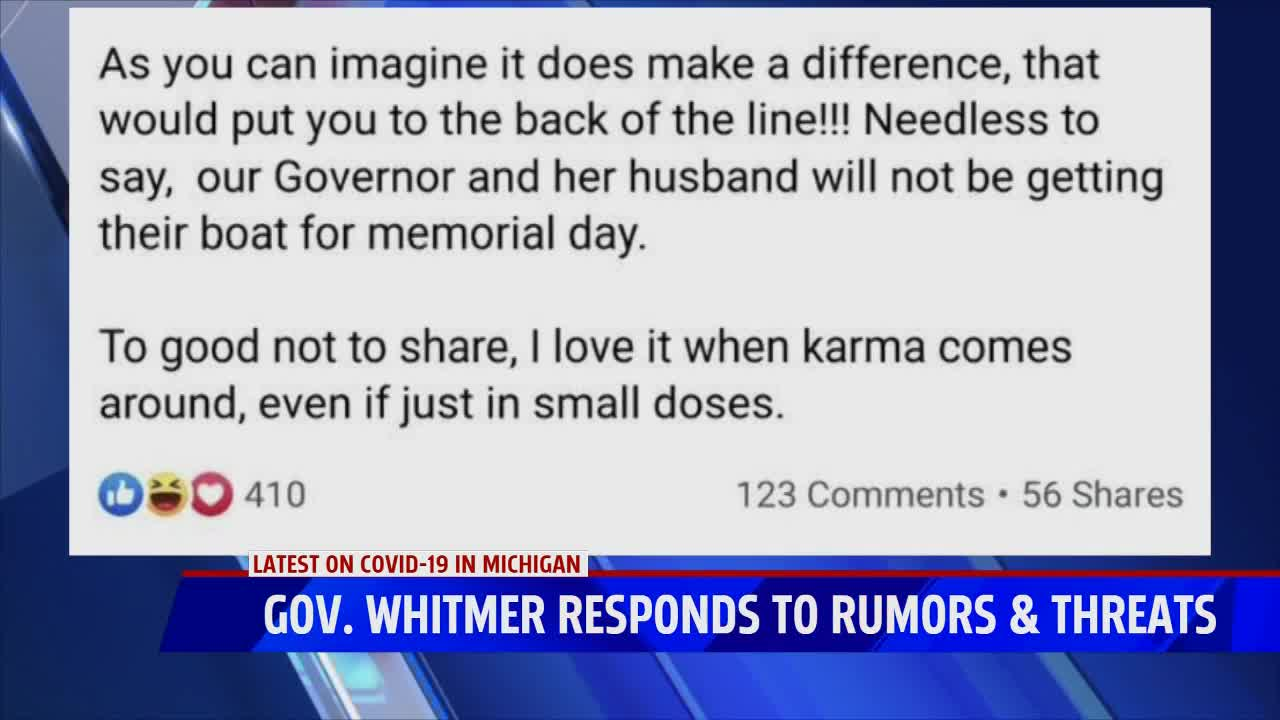Governor Whitmer Says Husband Regrets Call To Dock Company Ahead Of Holiday Weekend