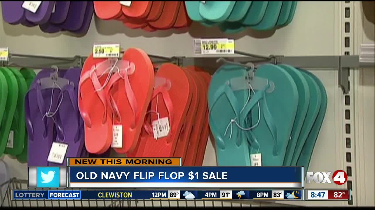 78edd0262 Old Navy s annual  1 flip flop sale is Saturday