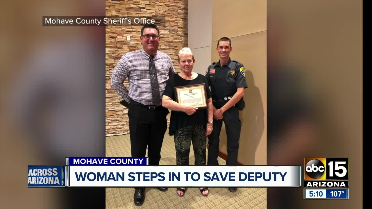 Littlefield woman honored for saving Mohave County deputy