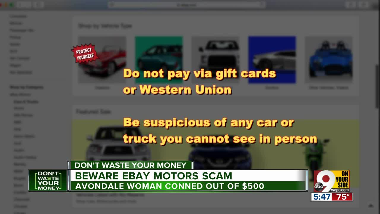 Ebay Motors Scammer Steals 500 From Avondale Woman