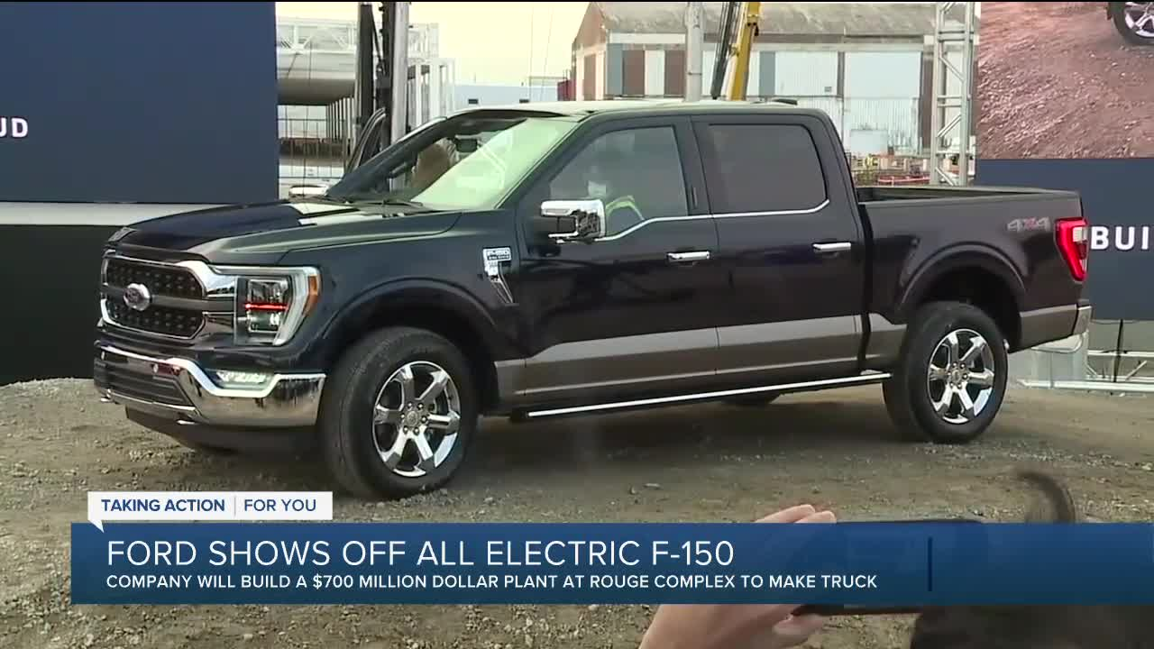 Ford unveils electric F-150 factory plan, says business is 'roaring back'