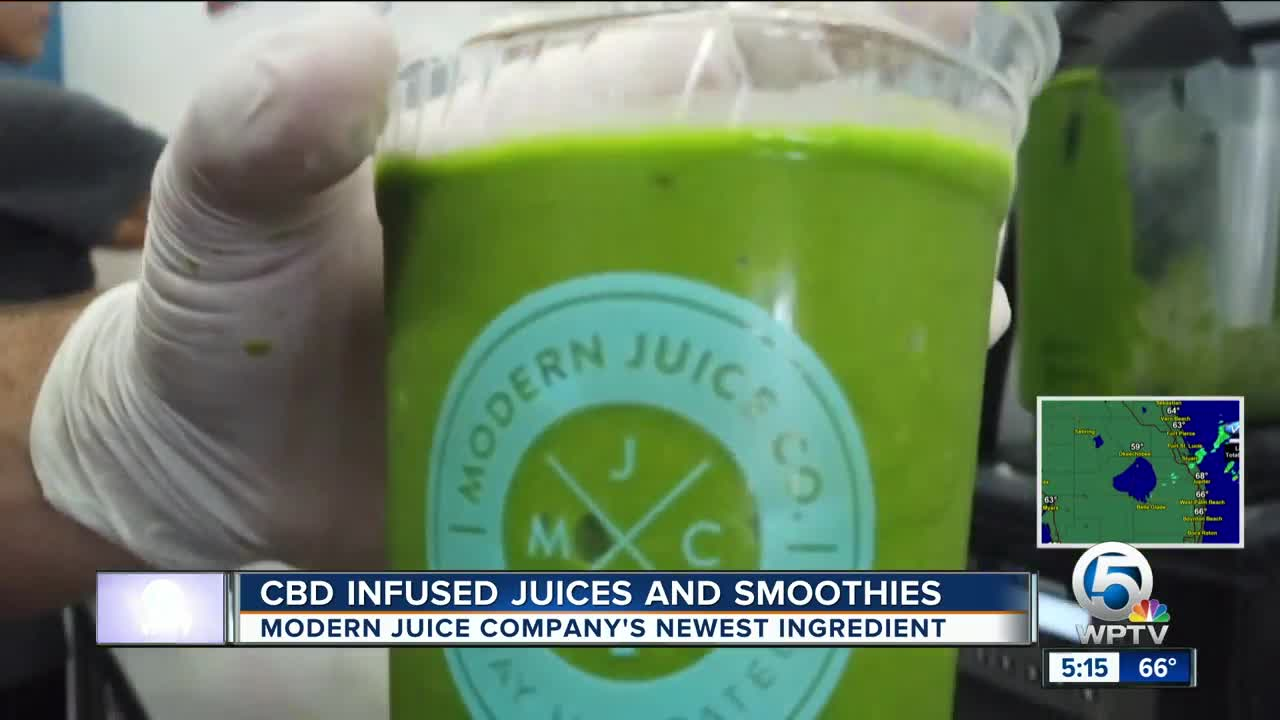 Juice and smoothie store in Jupiter adds CBD oil to drinks