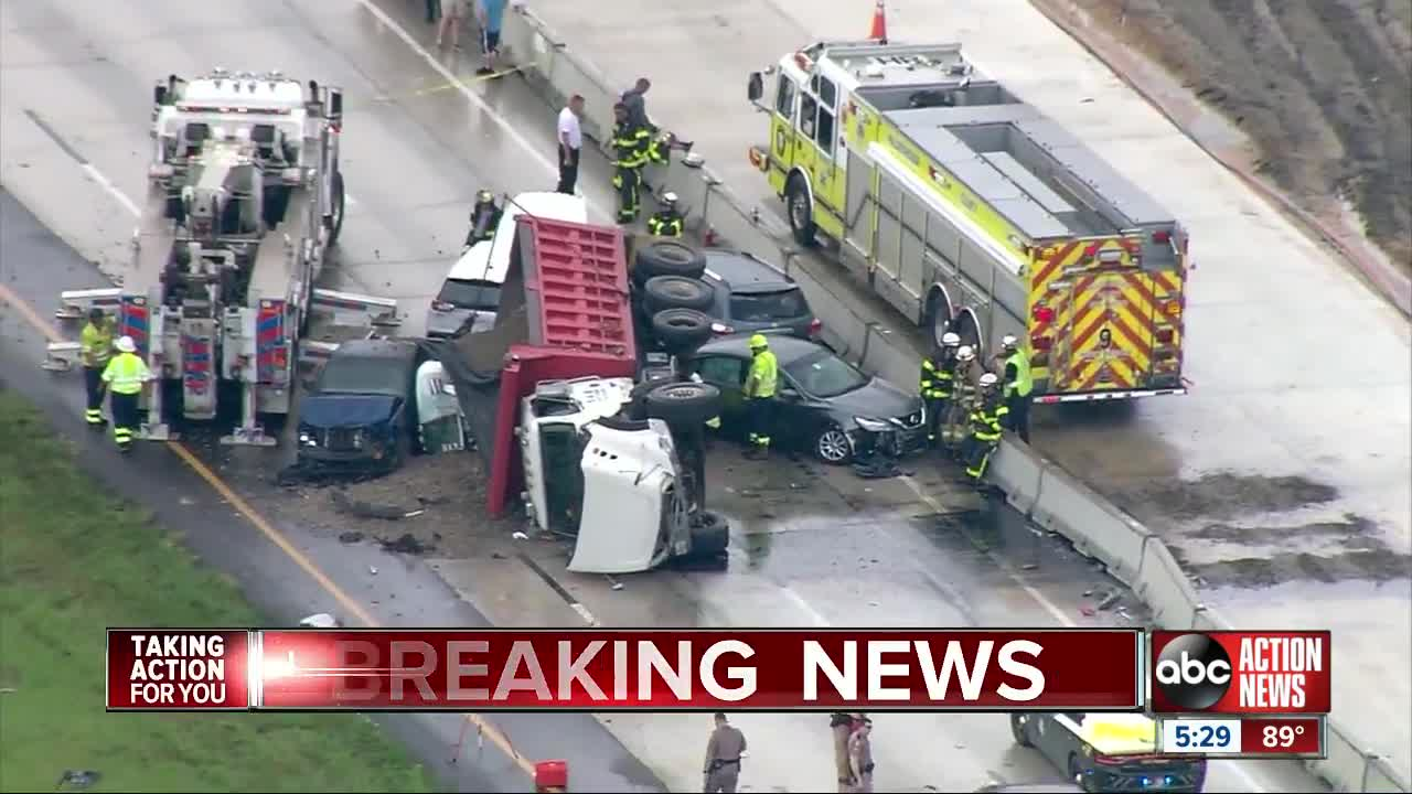 Deadly crash involving dump truck shuts down I-75 south for