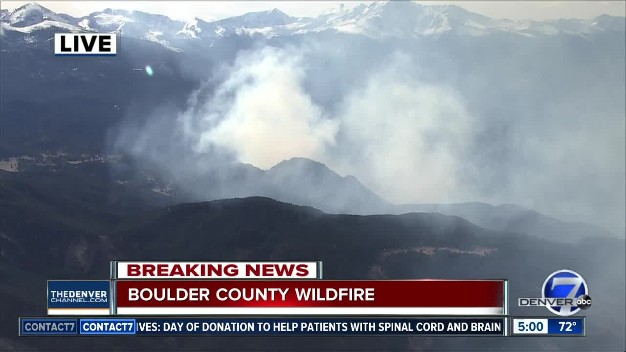 Boulder County wildland fire prompts evacuations in Conifer