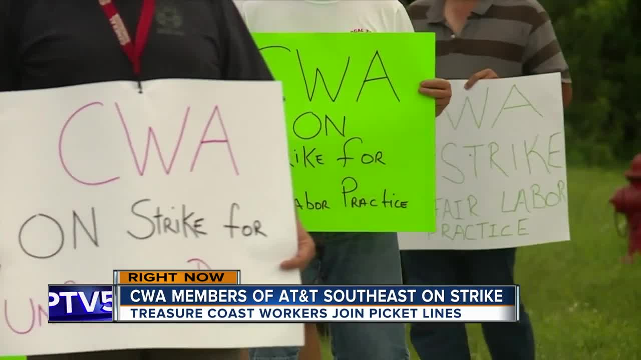 AT&T Southeast workers strike over unfair labor practices