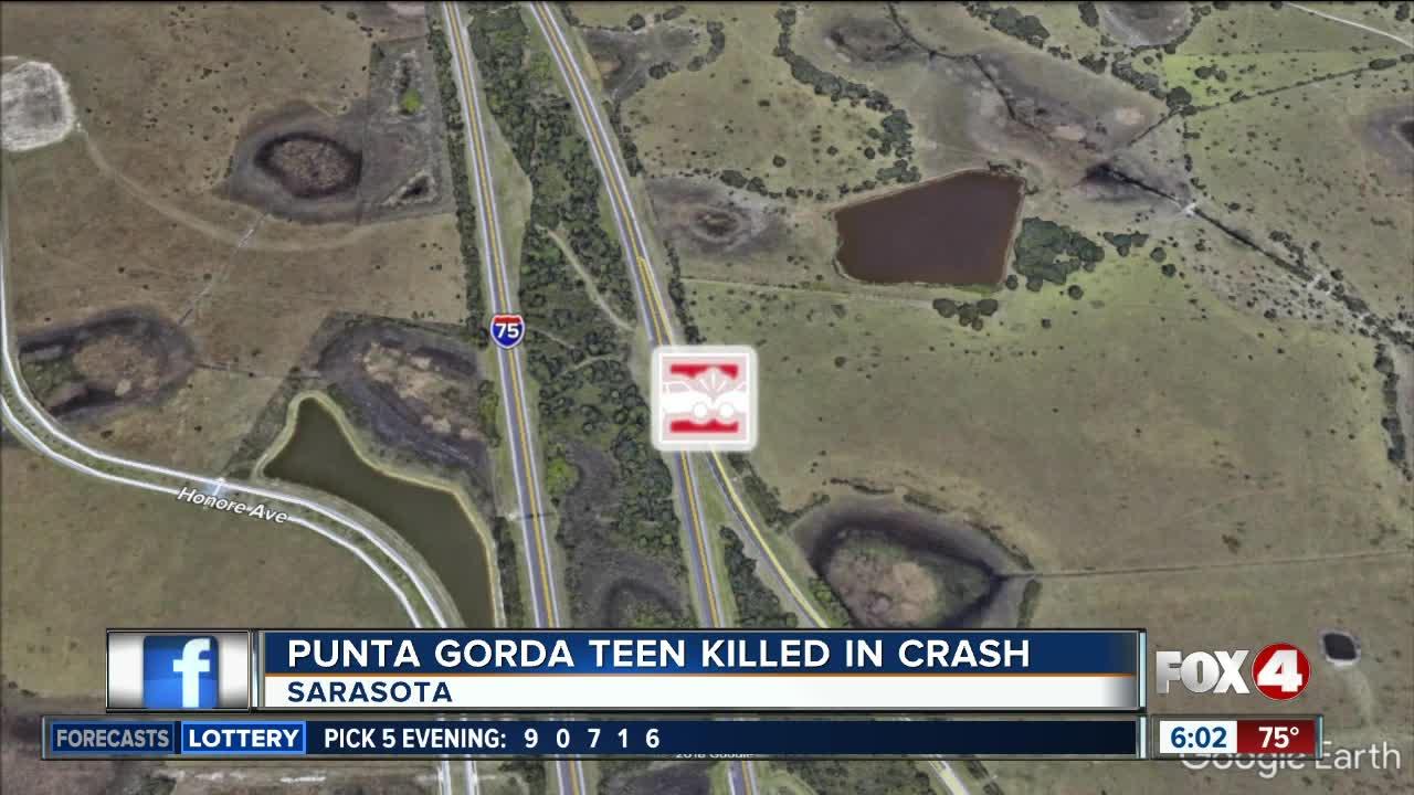 Punta Gorda teen dies in Sarasota County crash early Sunday