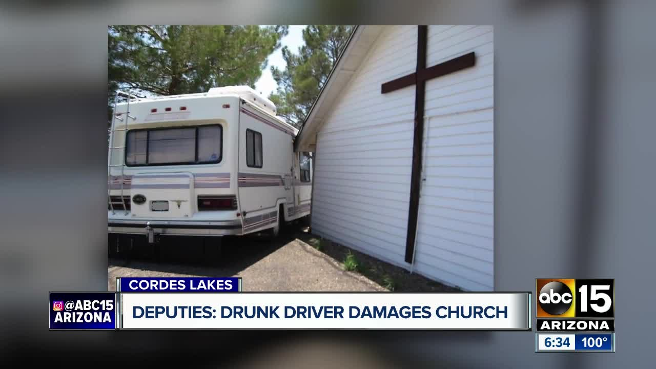 YCSO: Man crashes motor home into church, admits to drinking