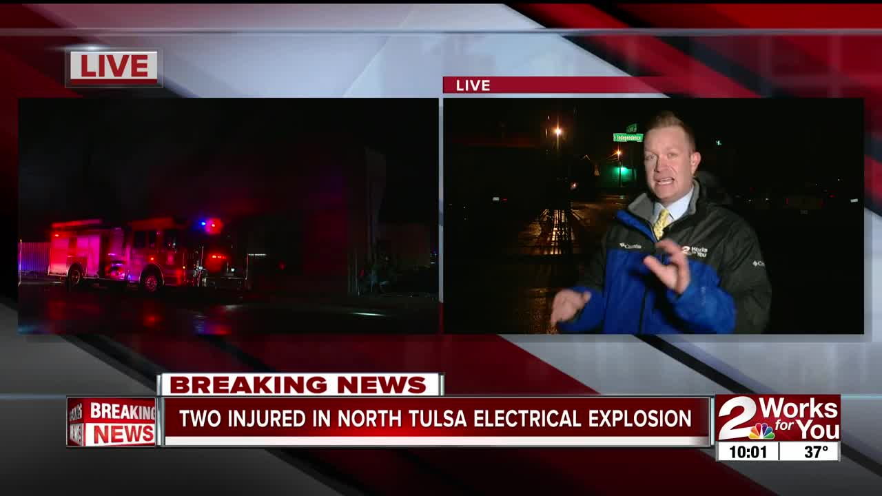 1 person critical after electrical explosion in north Tulsa
