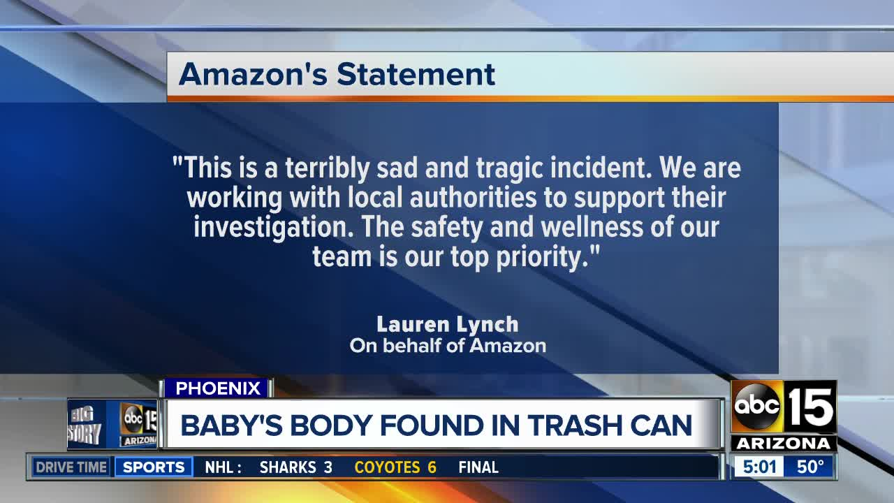 Baby found dead in toilet at Amazon warehouse