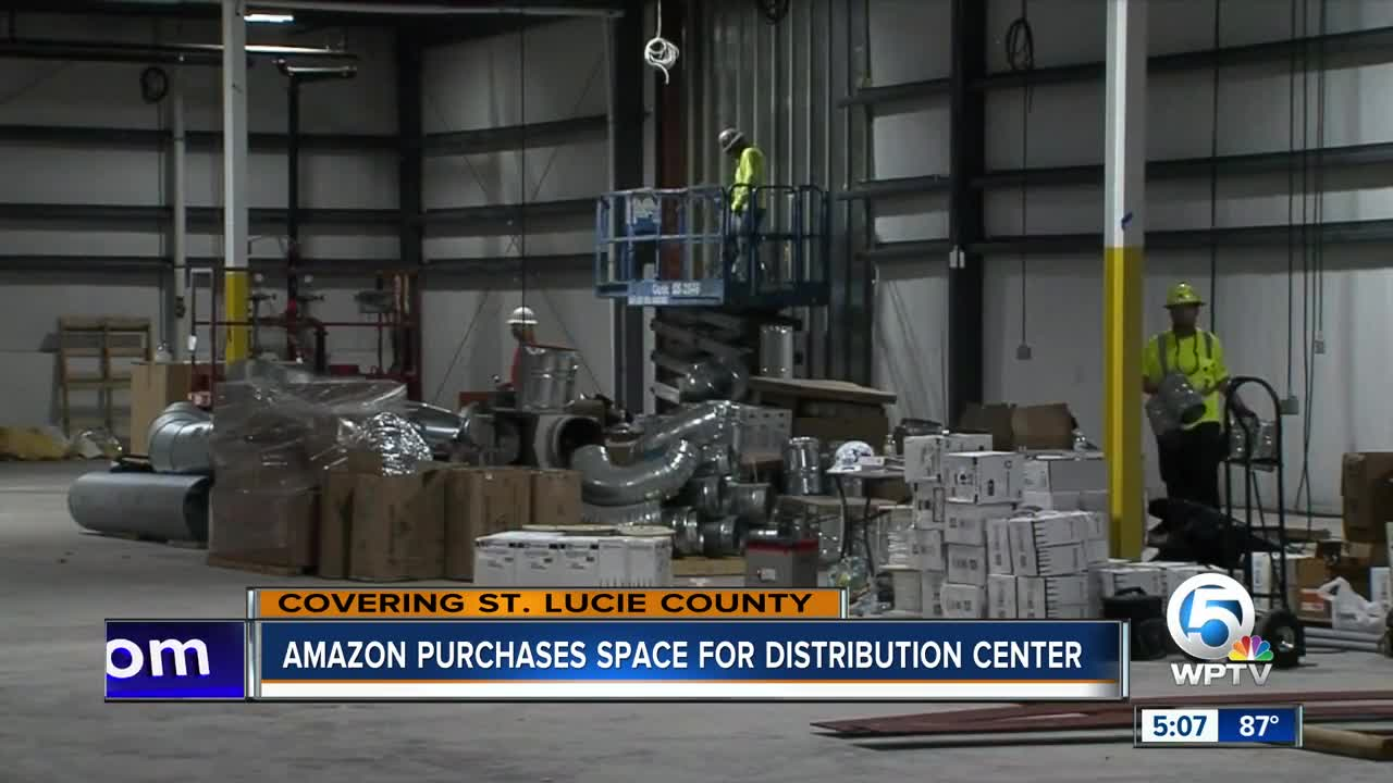 Amazon leasing warehouse space in St  Lucie County for