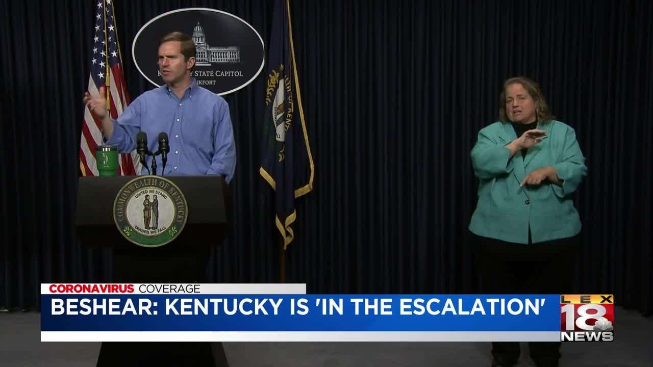Kentucky governor announces free drive-thru COVID-19 testing